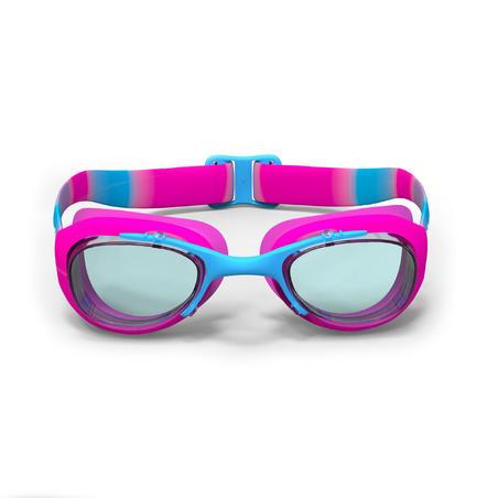 100 XBASE Swimming Goggles, Size S - DYE Pink Blue