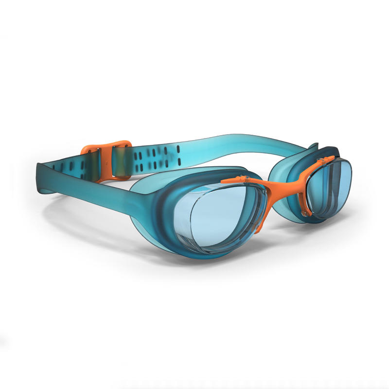 100 XBASE Swimming Goggles, Size S Blue Orange
