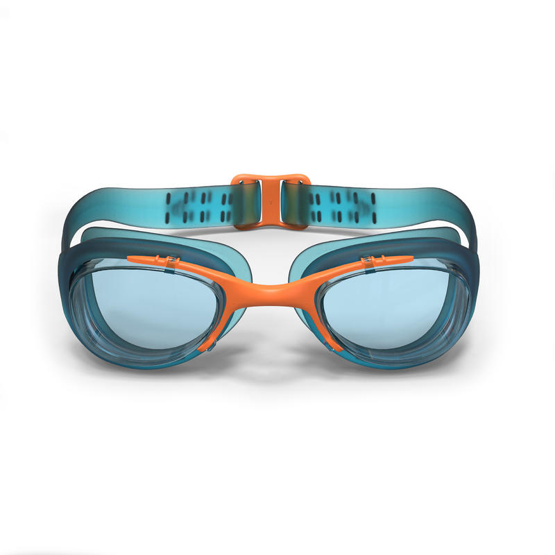 SWIMMING GOGGLES 100 XBASE SIZE S BLUE ORANGE
