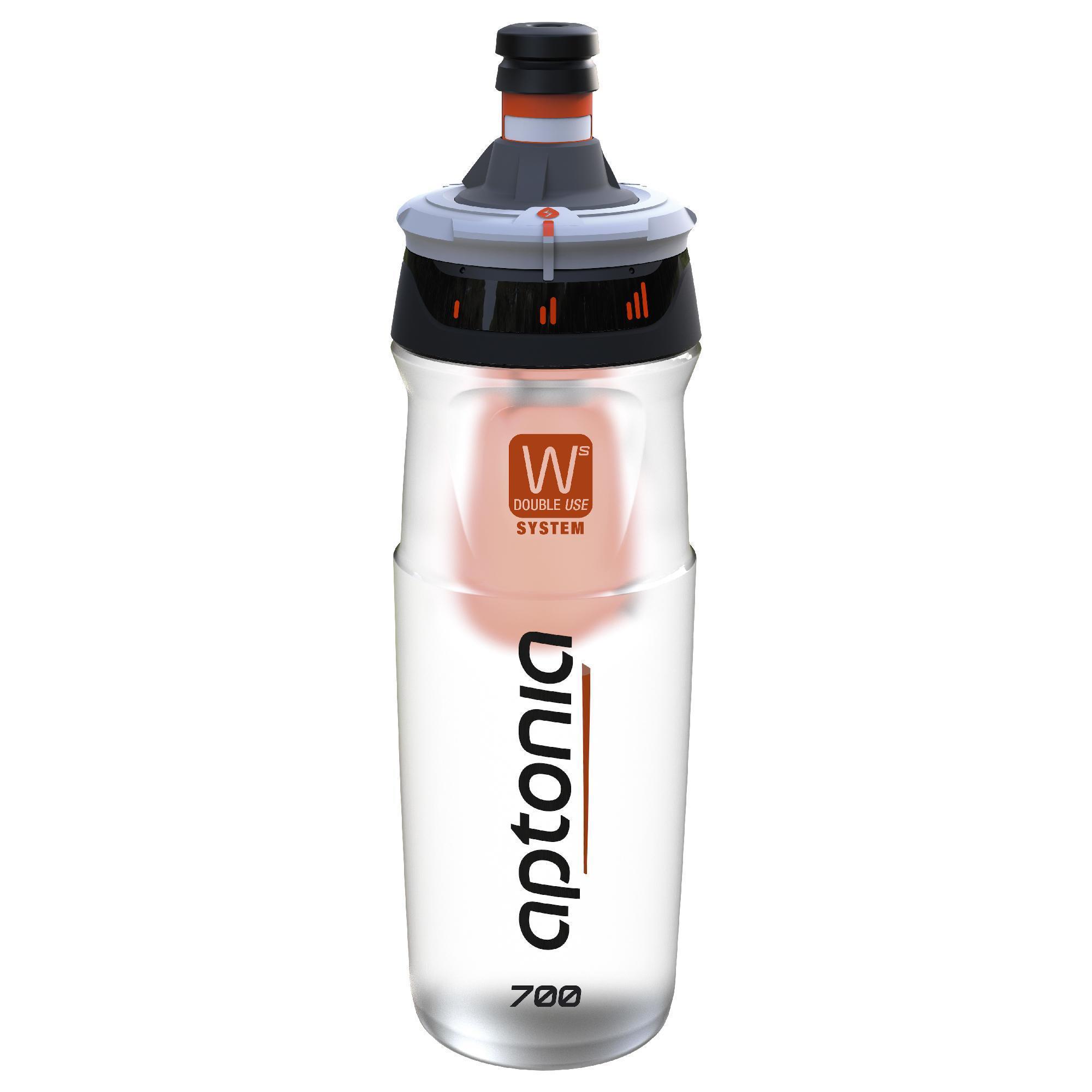 Trinkflasche Double Use 700 ml schwarz