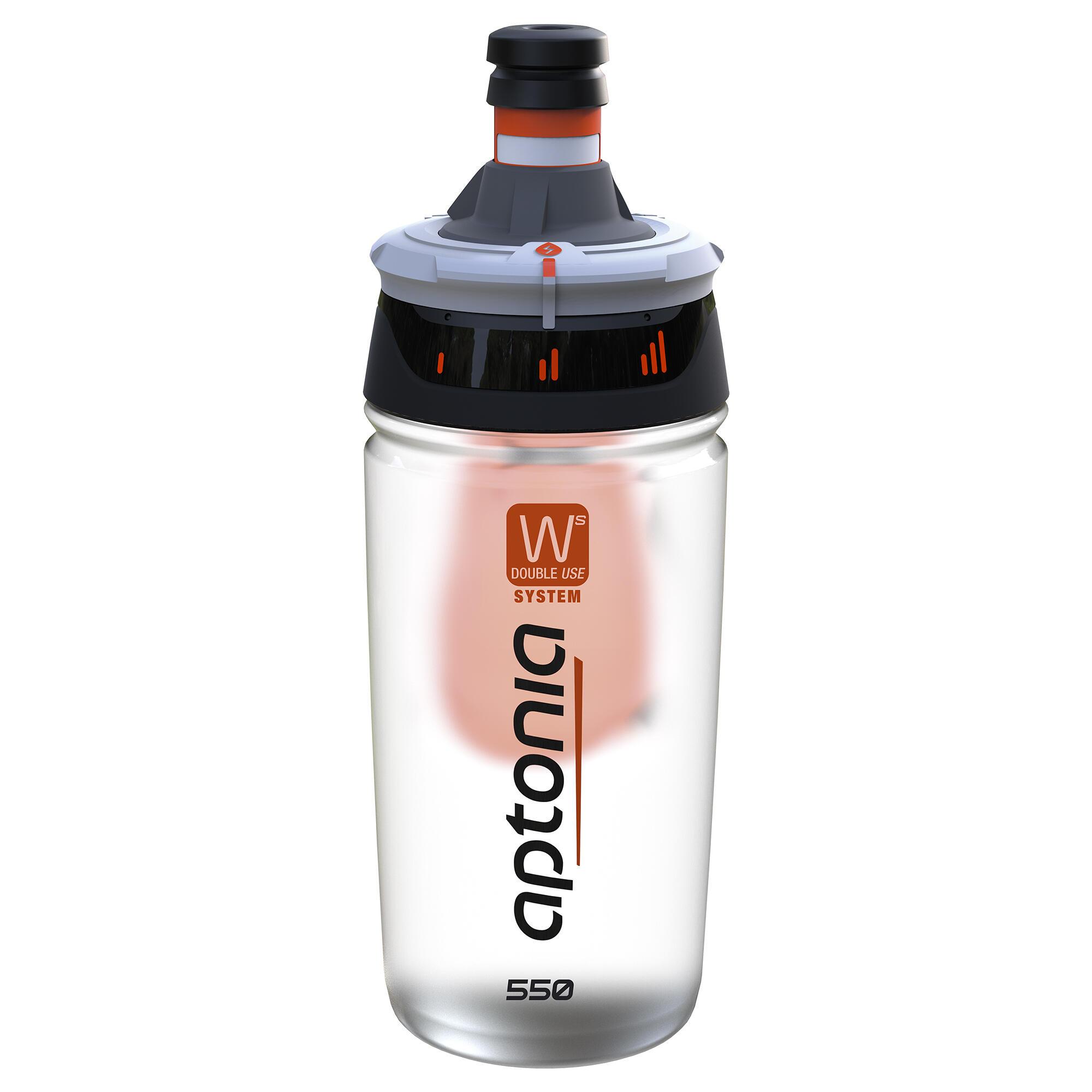 Trinkflasche Double Use 550 ml schwarz