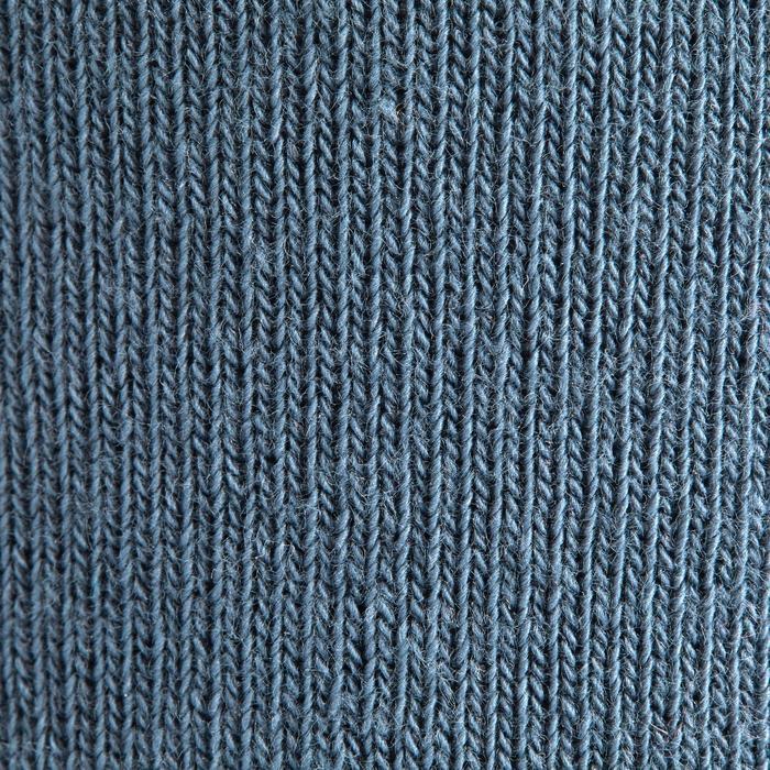 Reitsocken 500 Kinder Jungen Doppelpack marineblau/grau