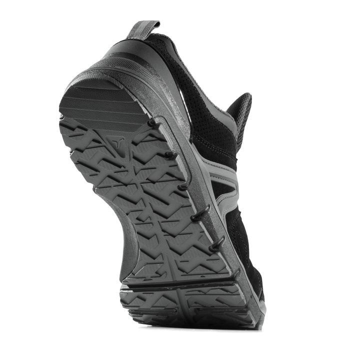 Leren herensneakers voor sportief wandelen HW 540 zwart