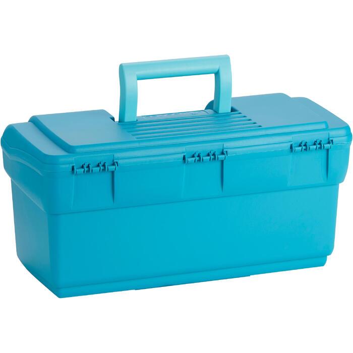 Mallette de pansage équitation GB 300 bleu turquoise