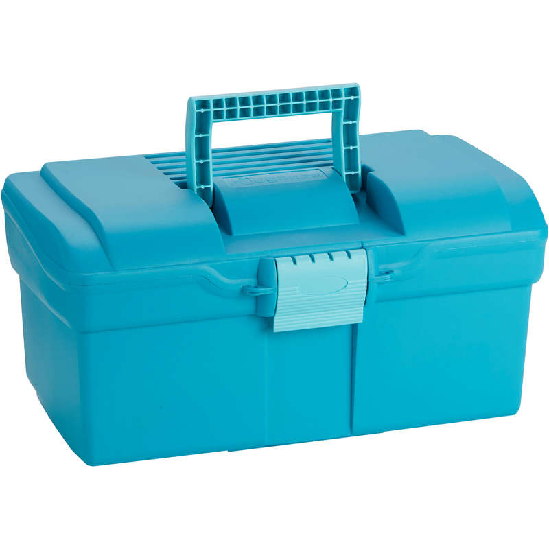HORSE GROOMING Horse Riding - 300 Case - Turquoise FOUGANZA - Horse Riding