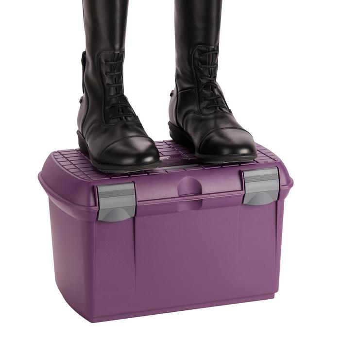Caja Limpieza Equitación Fouganza 500 Violeta y Gris