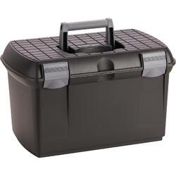 Mallette de pansage équitation GB 500 noir et gris