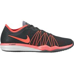 Zapatillas fitness mujer gris oscuro rojo