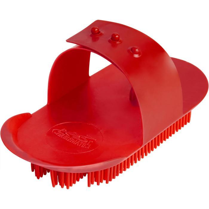 Kit de pansage équitation enfant 9 pièces rouge - 1242889