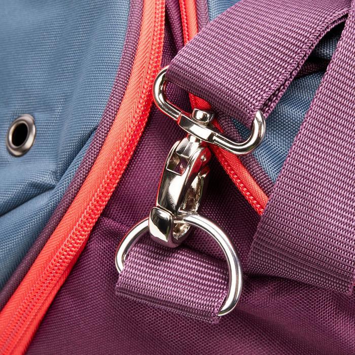 Grote draagtas voor paardrijmateriaal 55 l paars en grijs