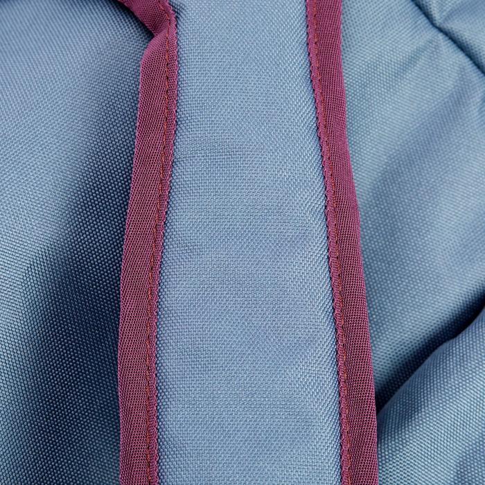 Sac à selle équitation prune, gris et rose