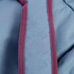 Zadelzak ruitersport dieppaars/grijs/roze