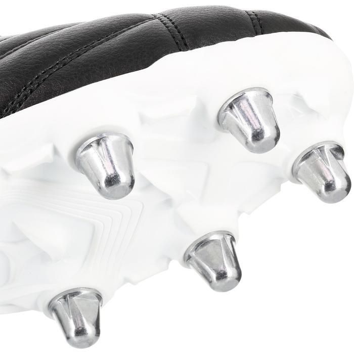Rugbyschoenen voor drassig terrein 8 noppen Density R100 SG zwart