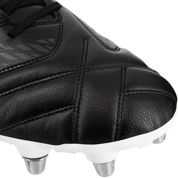 Chaussures de rugby adulte 8 crampons Density R100 SG noir