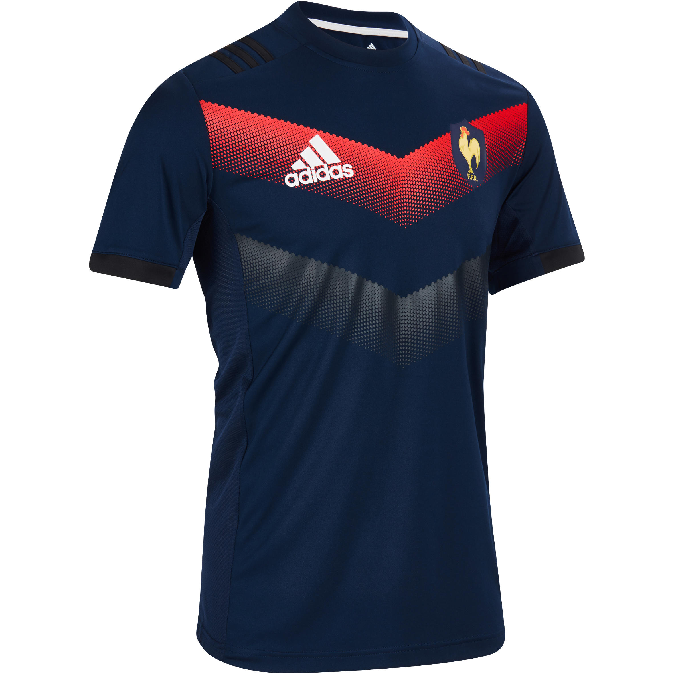Adidas Performance rugby T-shirt Frankrijk 17-18