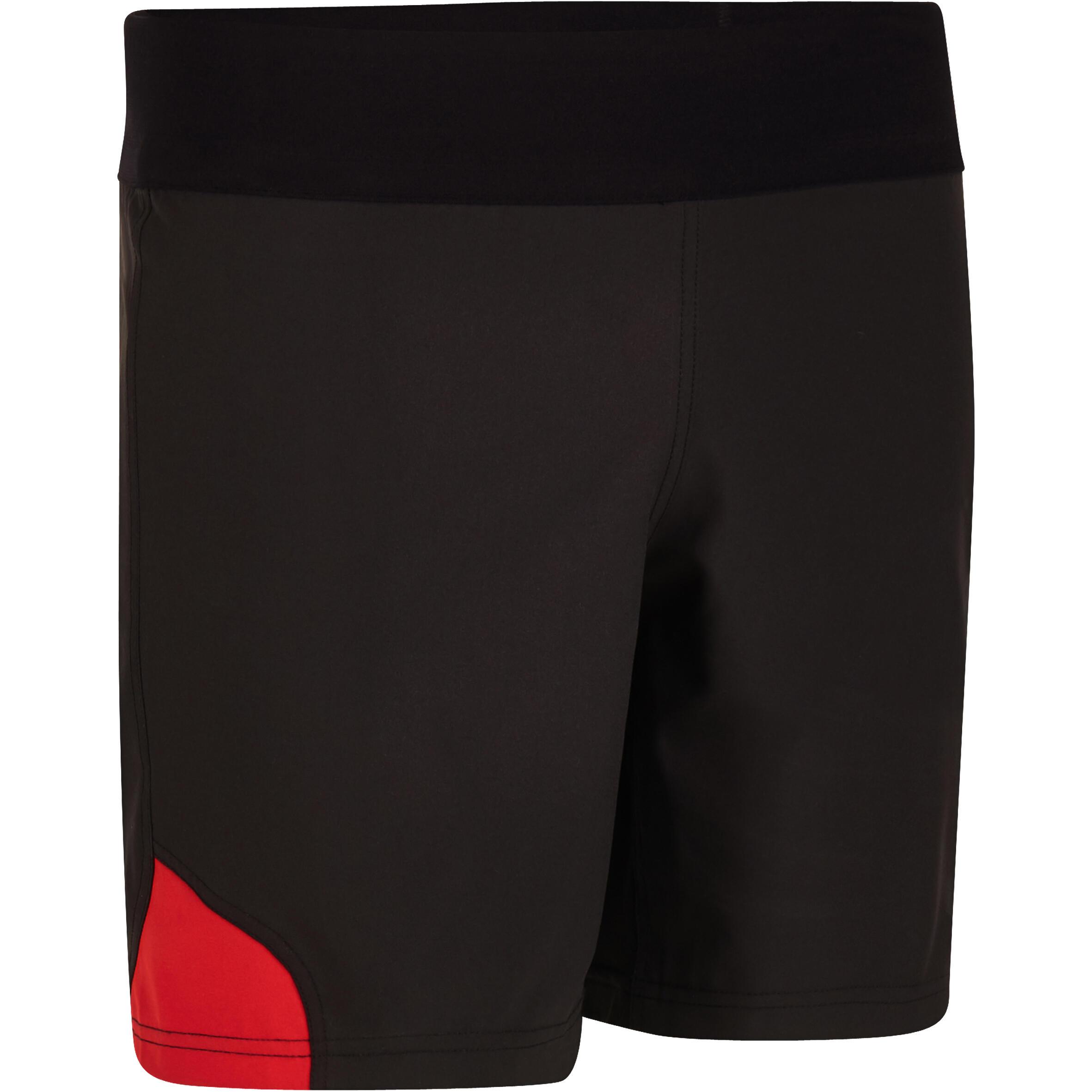 Kipsta Rugbyshort volwassenen Full H 500 zwart/rood