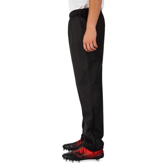 Pantalon coupe vent imperméable rugby adulte Smockpant noir - 1243616
