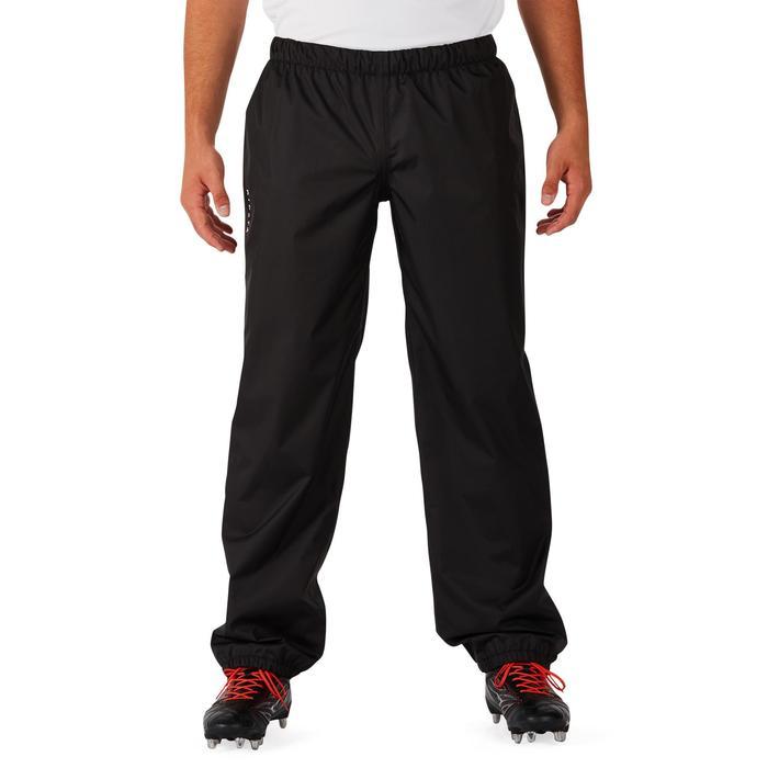Pantalon coupe vent imperméable rugby adulte Smockpant noir - 1243618