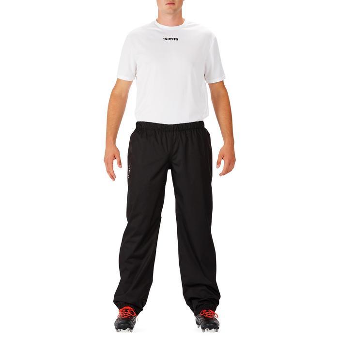 Pantalon coupe vent imperméable rugby adulte Smockpant noir - 1243619