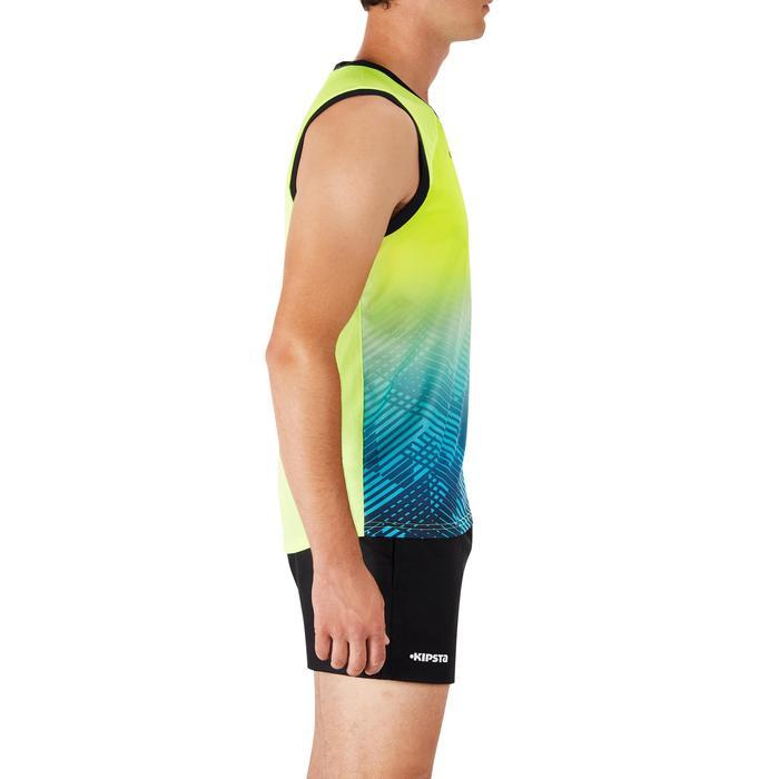 Camiseta sin mangas Rugby Offload R500 hombre amarillo y azul