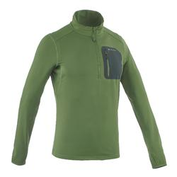 SH500 Men's warm long sleeve green snow hiking t-shirt