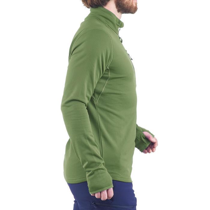 Tee-shirt de randonnée neige manches longues homme SH500 warm vert