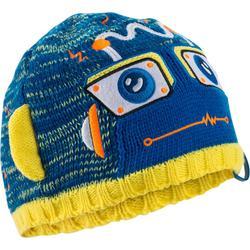 Robot 男童滑雪帽-藍色黃色