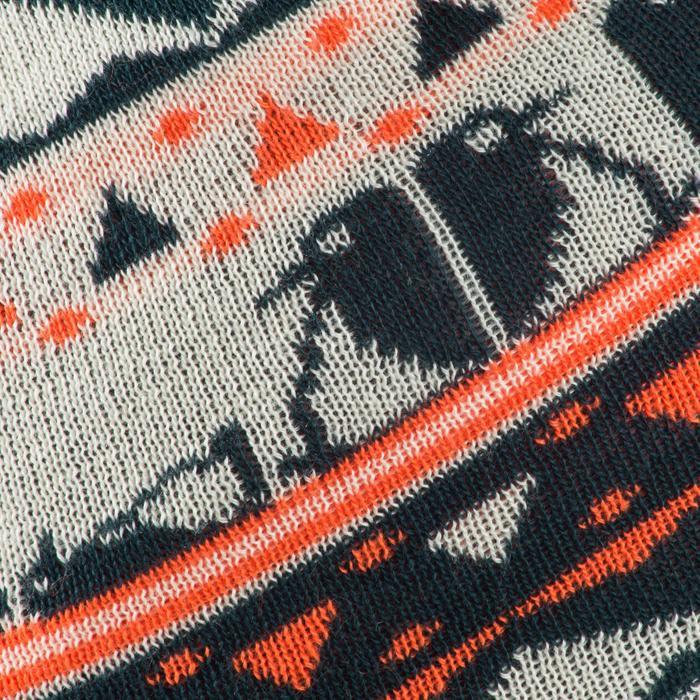 Jacquard skimuts kid petroleumblauw/oranje