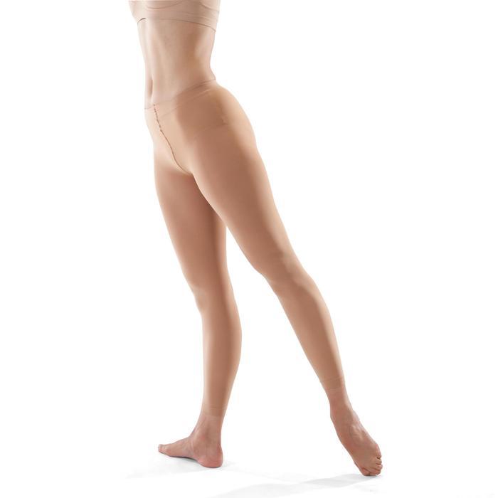 Tanzleggings Strumpfhose ohne Fuß Mädchen hautfarben