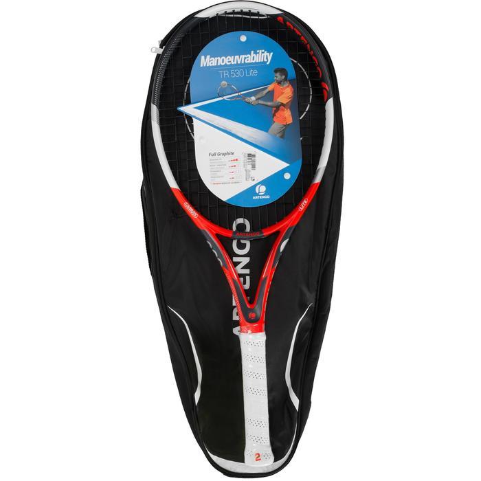 Set de raquette de tennis TR 530 lite Rouge avec sa housse pour les accessoires - 1244153