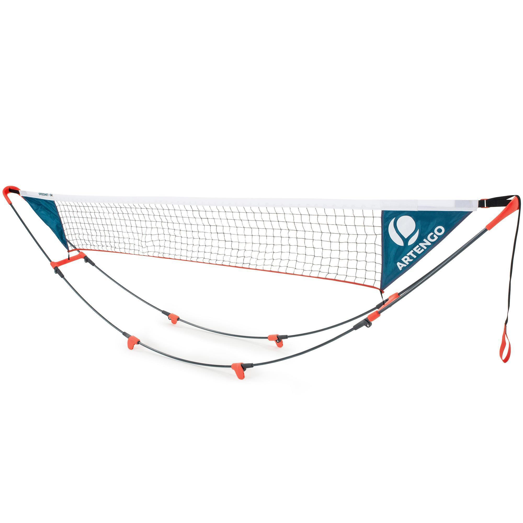 Filet de tennis 3metres rapide et modulable en hauteur artengo - Hauteur filet tennis de table ...