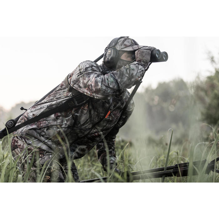 Veste chasse Silencieuse Imperméable 500 CAMO FORET