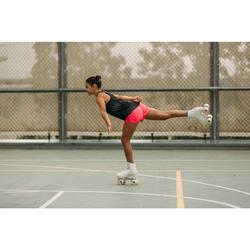 Kunstlauf-Rollschuhe Quad 100 rosa