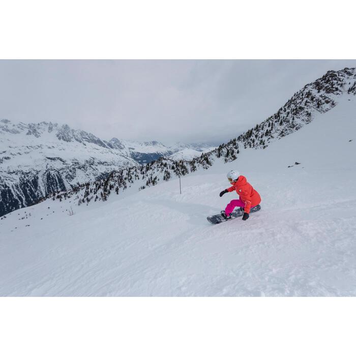 Veste ski femme Slide 500 rouge