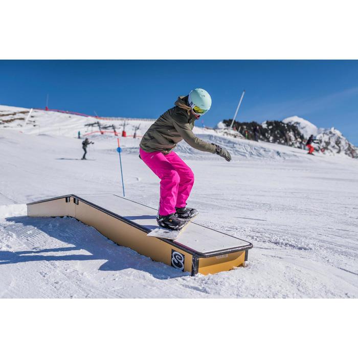 Skibroek voor freeride dames 500 roze