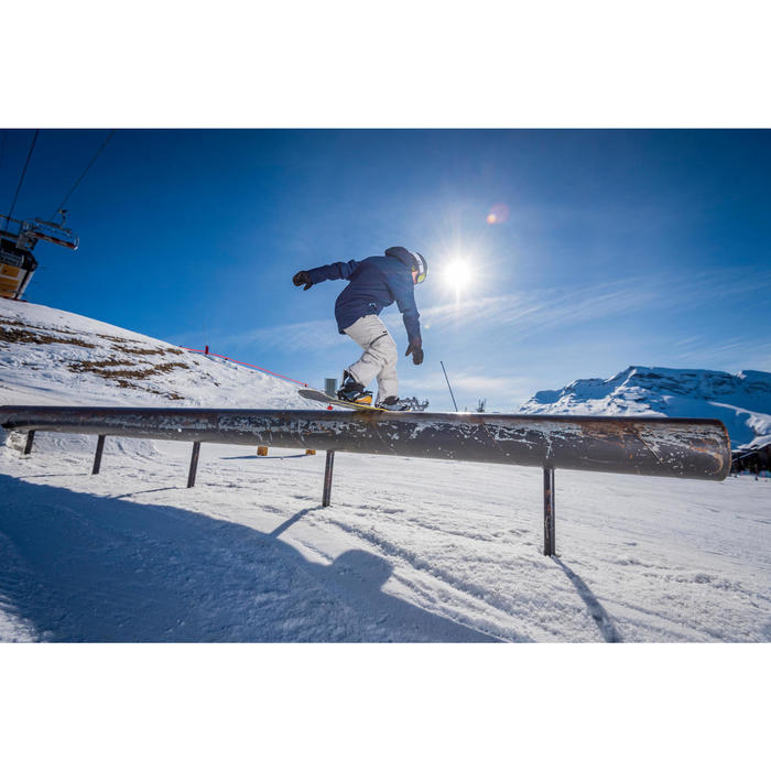 Pack freestyle snowboard uniseks heren dames End Zone 500 Jib grijs