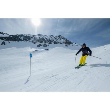 Ski's heren met binding Boost 700 zwart en groen - piste ski