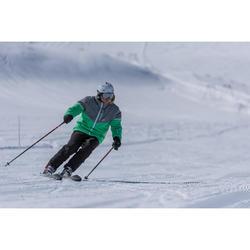 搭配固定器BOOST 700的男款滑雪道雙板滑雪板黑色與綠色