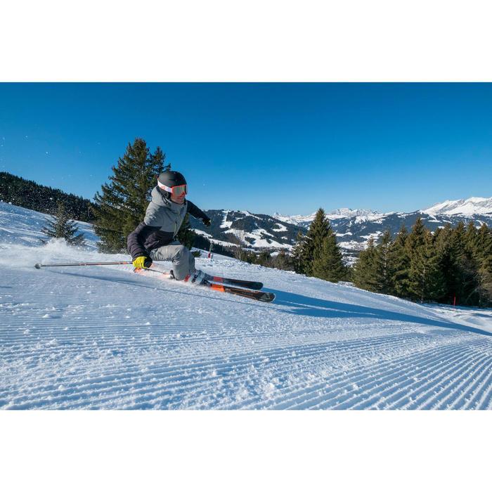 Skistöcke robust Piste Boost 550 Erwachsene schwarz