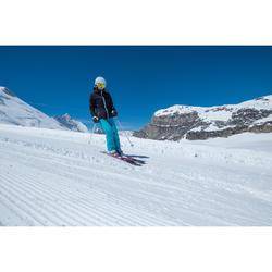 Pantalón esquí mujer Slide 300 azul turquesa