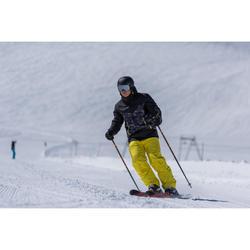 Ski- en snowboardhelm voor volwassenen H-FS 300 zwart/geel