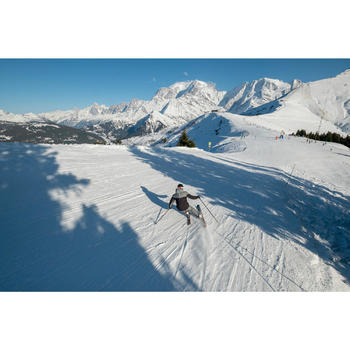 Heren skibroek voor pisteskiën SKI-P PA 580 grijs