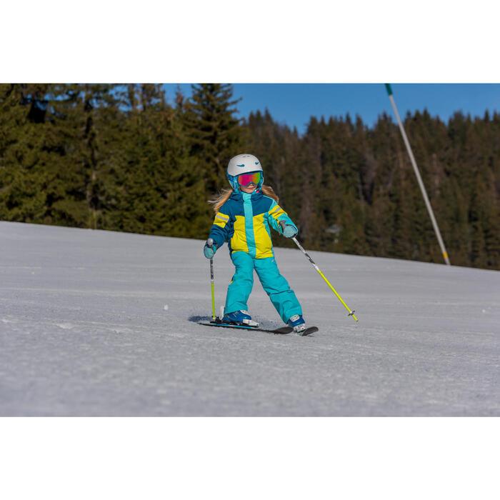 Kinder ski-jas 300 blauw/geel