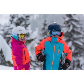 MASQUE DE SKI ET DE SNOWBOARD FEMME BONES 500 BEAU TEMPS BLANC - 18