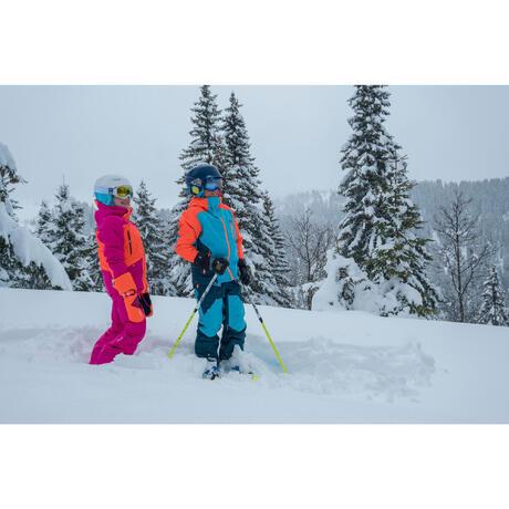 masque de ski et de snowboard homme bones 500 mauvais temps bleu 18 wedze. Black Bedroom Furniture Sets. Home Design Ideas