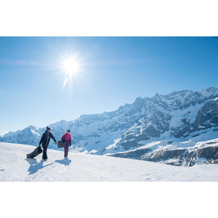 HOUSSE À SKIS ET SNOWBOARDS SKISNB TRVLBAG 900 GRISE - 1245229