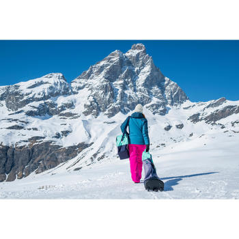 Omkeerbare skimuts volwassenen blauw/ivoorkleurig