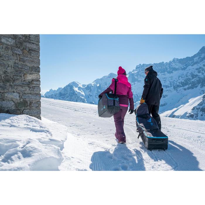 HOUSSE À SKIS ET SNOWBOARDS SKISNB TRVLBAG 900 GRISE - 1245236