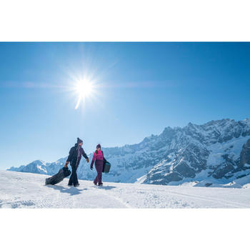 HOUSSE À SKIS ET SNOWBOARDS SKISNB TRVLBAG 900 GRISE - 1245241