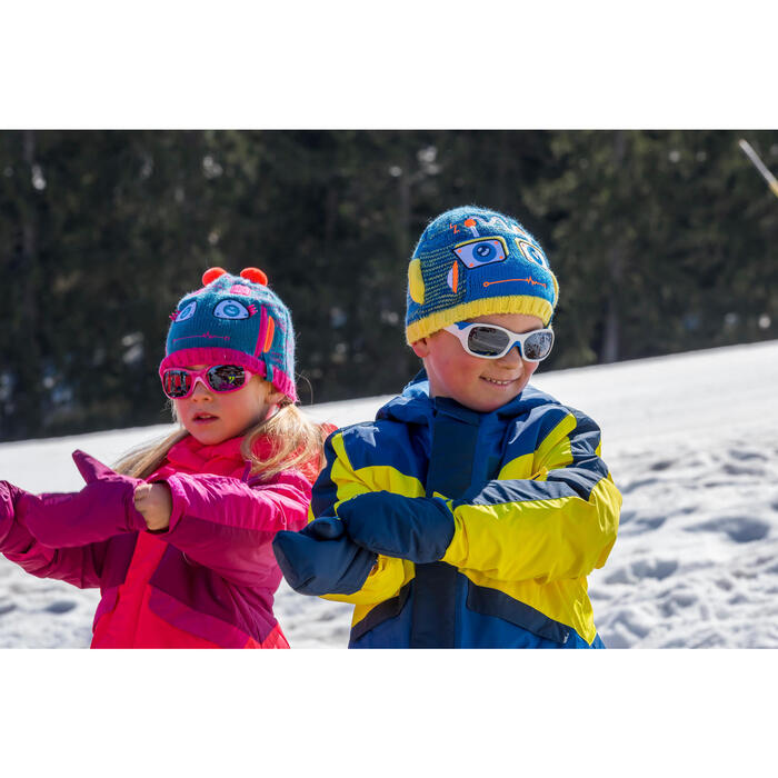 BONNET DE SKI KID GARCON ROBOT BLEU JAUNE - 1245253